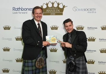 Winner of the campaigning and advocacy category: Who Cares? Scotland