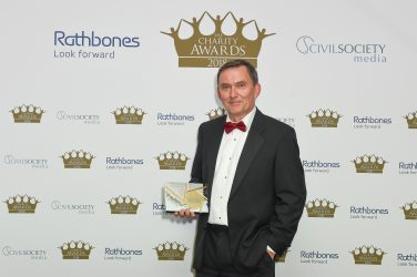Kevin Curley, winner of the Daniel Phelan award for outstanding achievement