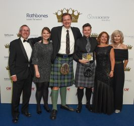 Overall award winners, Who Cares? with Charity Awards judges Andrew Hind, Mandy Johnson, Ruth Davison and Su Sayer