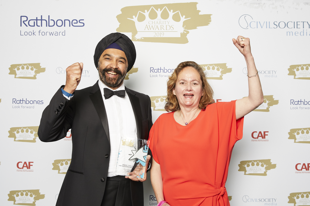 Sir Harpal Kumar and Cathy Phelan