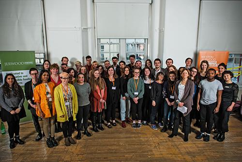 Weston Jerwood Creative Bursaries 2017-19 participants. Image Outroslide Photography